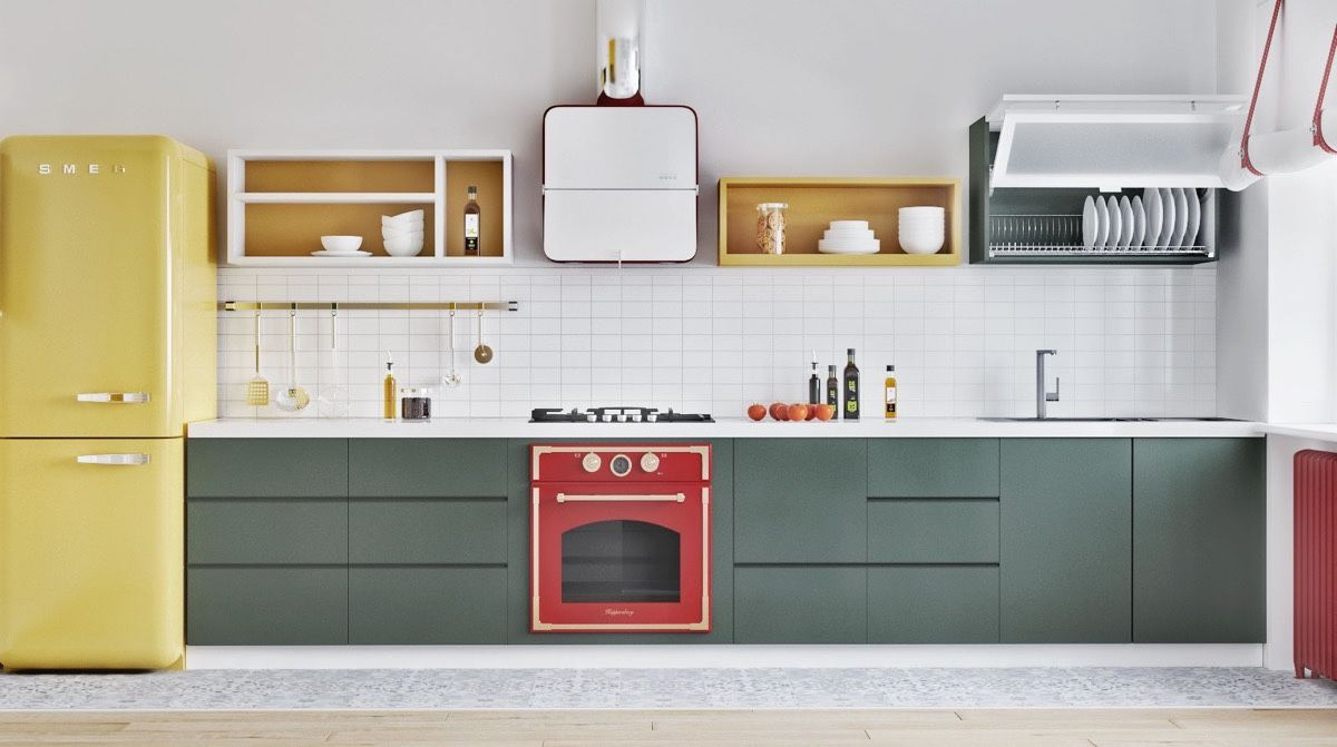 dapur  warna colorful