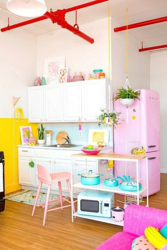 dapur pastel colorful