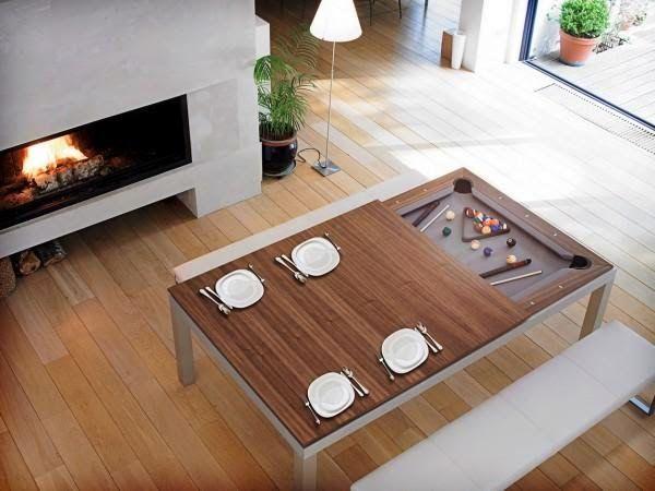 furnitur multifungsi meja makan dan meja billiard