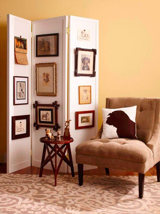 inspirasi desain sekat ruang hiasan lukisan