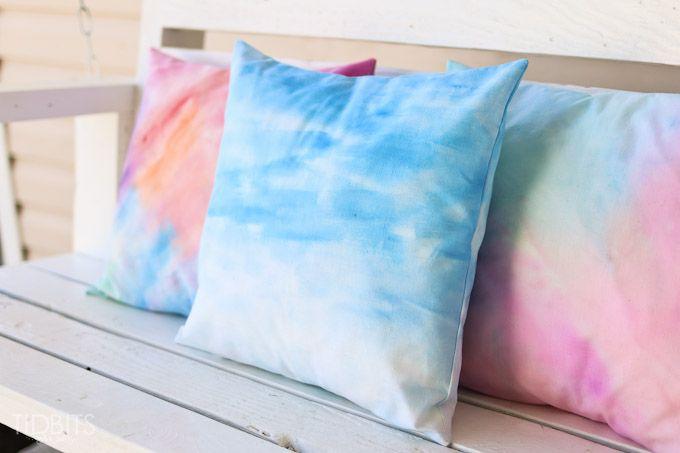 diy bantal sofa rainbow