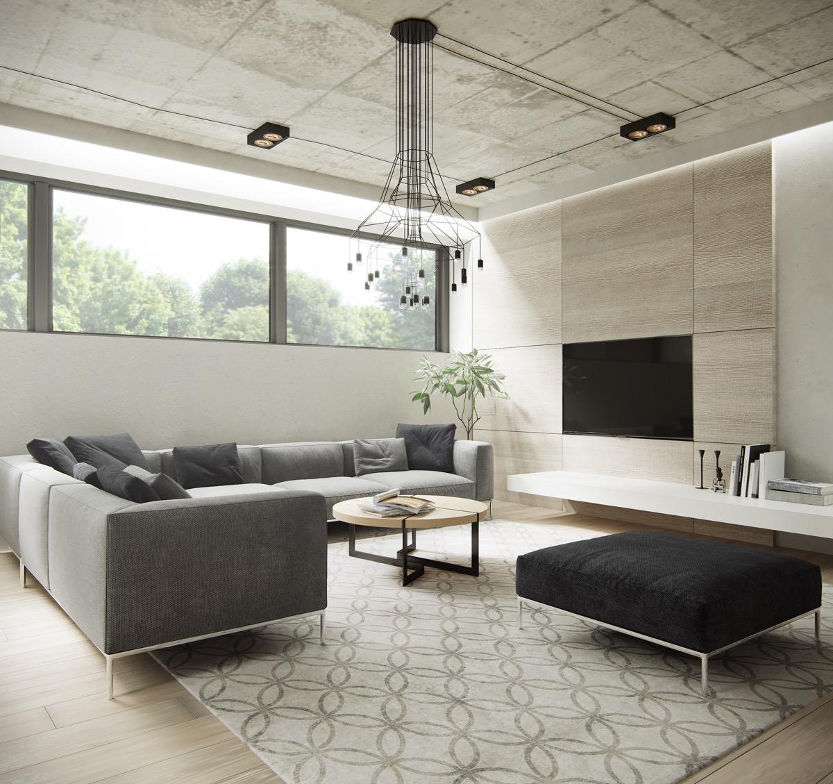 inspirasi ruang tamu minimalis yang alami