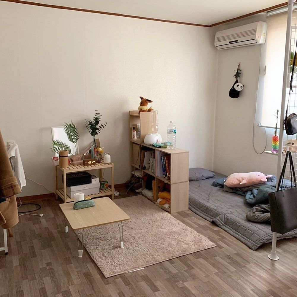 Inspirasi kamar dari drama Korea dengan pemisahan ruang