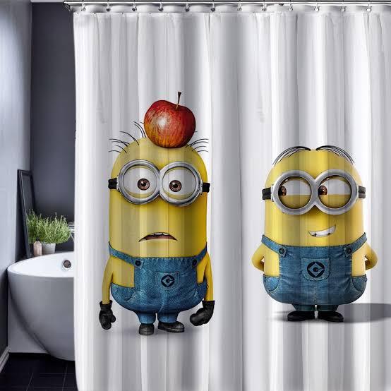 aksesoris lucu kamar mandi - shower curtain