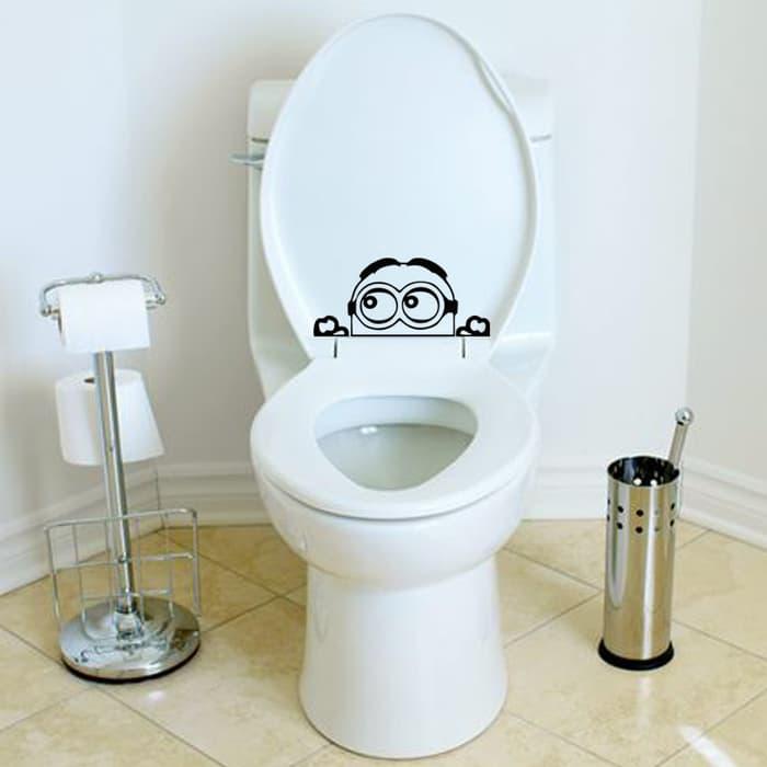 aksesoris lucu kamar mandi - stiker kloset