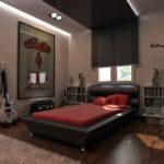 desain kamar tidur maskulin