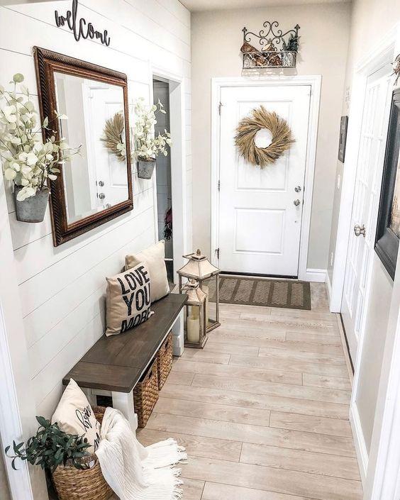 desain rustik untuk dekorasi lorong rumah sempit
