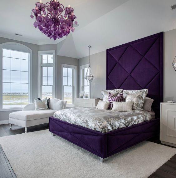 tren kamar tidur 2020 ungu kerajaan