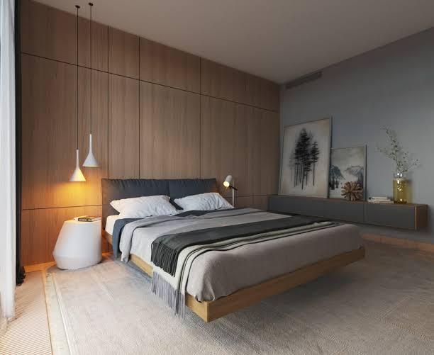 tren kamar tidur 2020 minimalis dengan warna monokrom