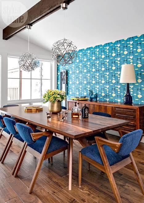 dapur dan ruang makan biru