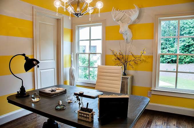 ruang kerja kuning