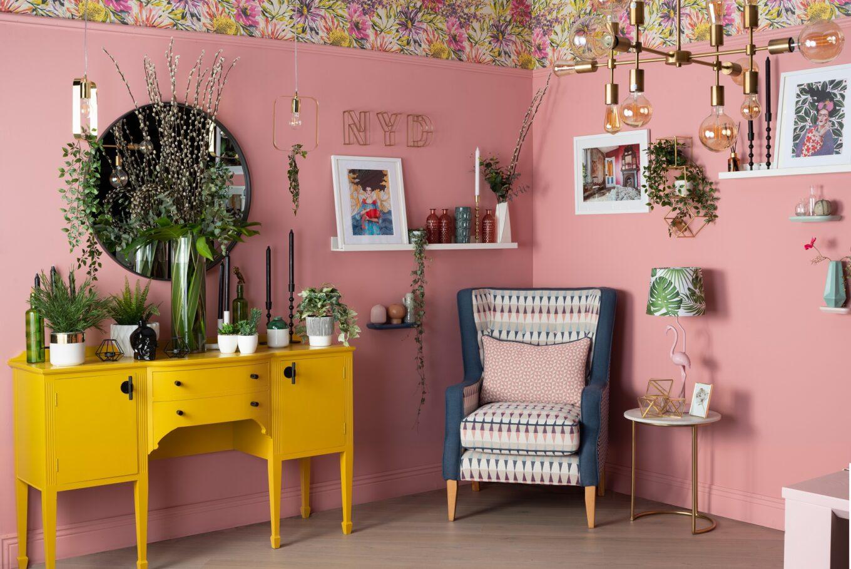 Dekorasi ruangan dengan sentuhan kuning