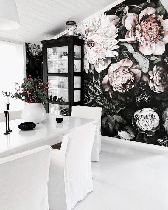 wallpaper corak bunga