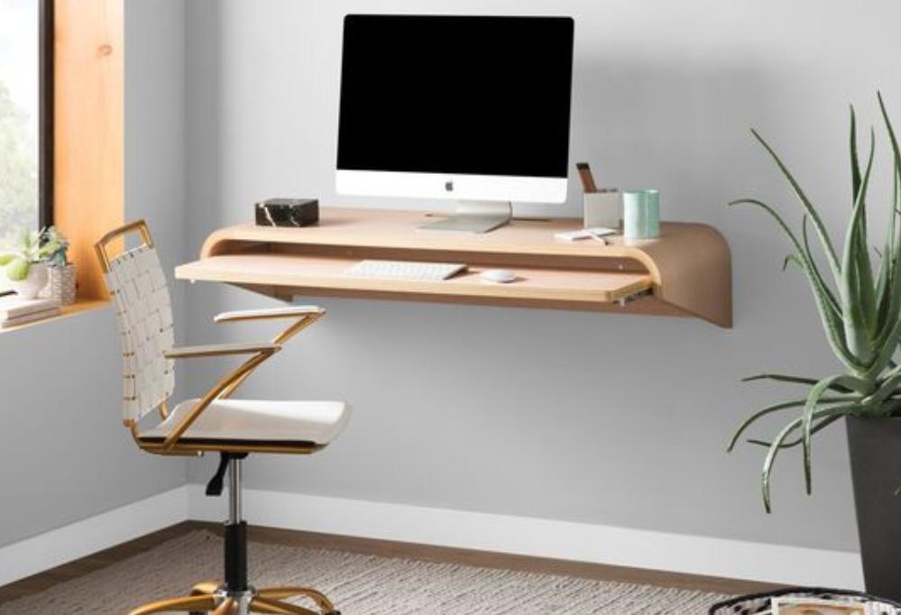 Desain meja komputer melayang