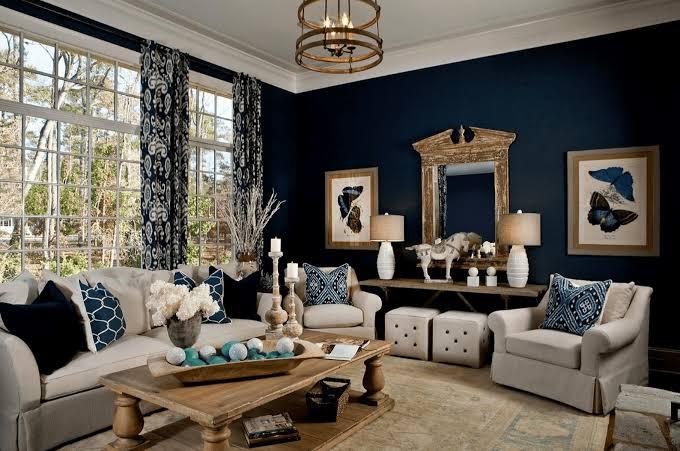 desain ruang navy blue