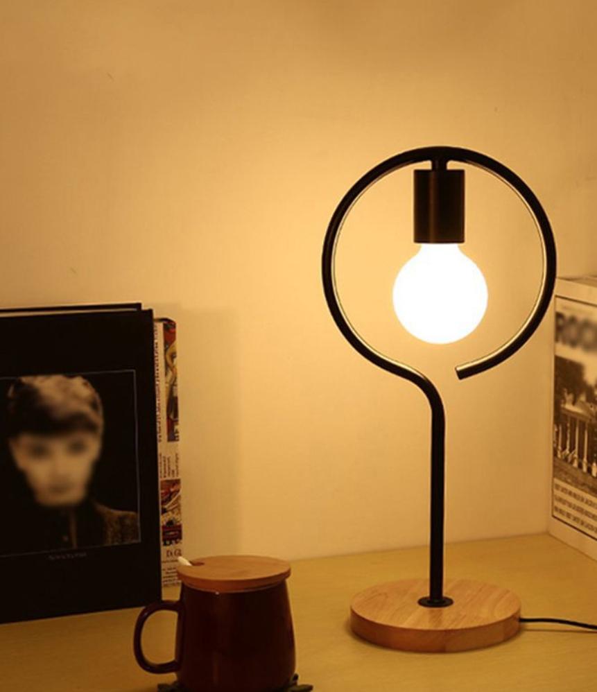 lampu meja rustik