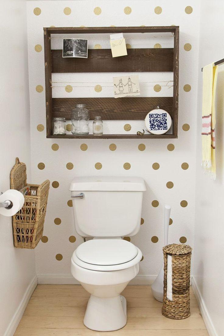 Dekorasi motif polka dot - toilet dinding polka dot