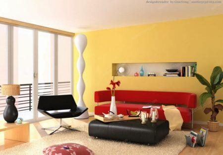 Inspirasi ruangan cat warna kuning