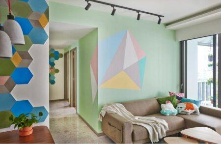 desain geometris pada dinding