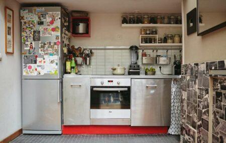 Dekorasi dapur tanpa lemari