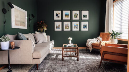 Inspirasi kombinasi cat warna hijau
