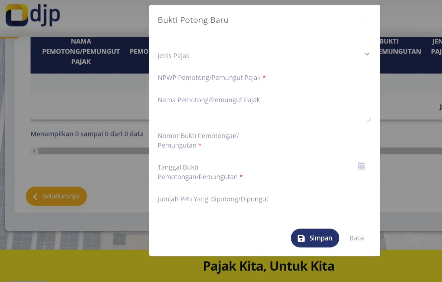 Cara lapor SPT online 2021