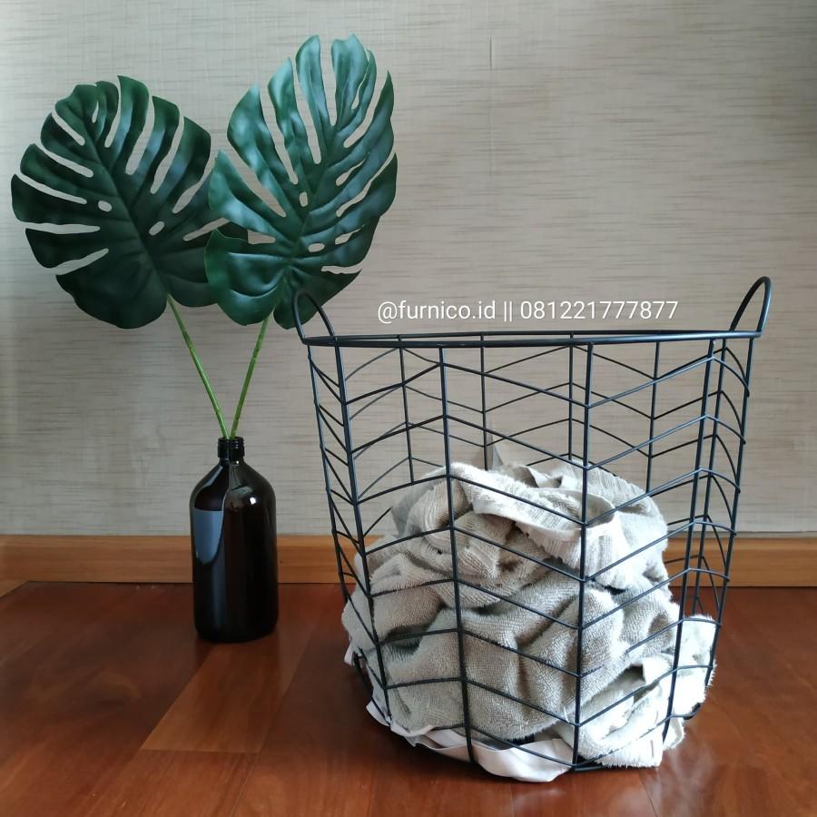 keranjang laundry estetik besi