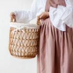 rekomendasi keranjang laundry estetik unik