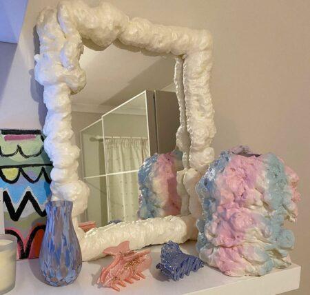 DIY dekorasi frame cermin