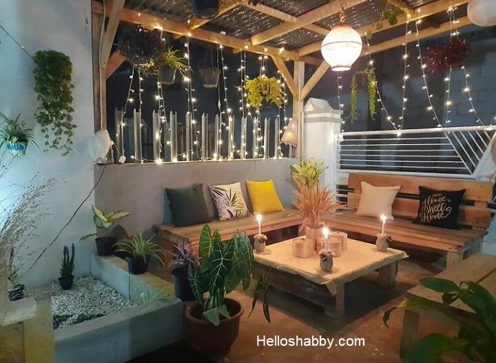 ruang tamu di teras